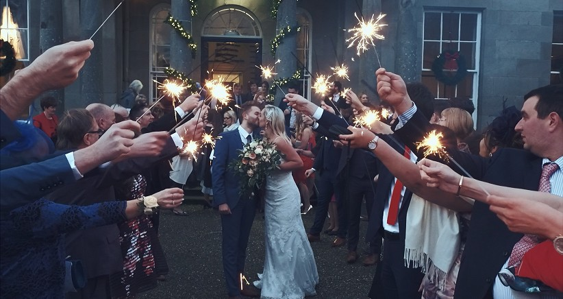 Touching Reception in Drenagh Estate, With Fun, Love and Sparklers!