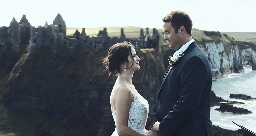 Elopement At Dunluce Castle